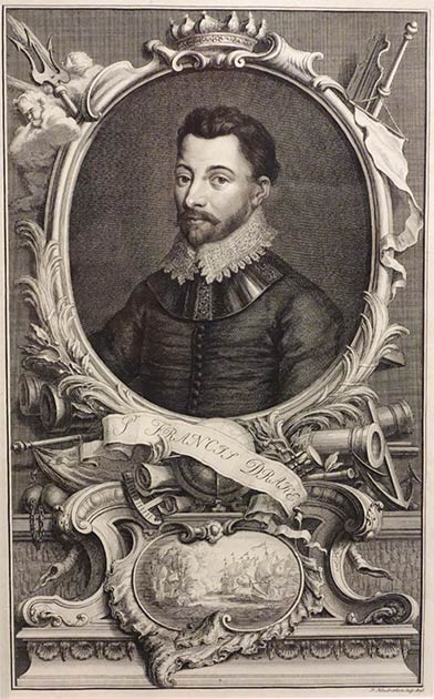 """Francis Drake: This famous pirate had a """"license to steal,"""" granted by the Queen of England herself! (Daderot / CC0)"""