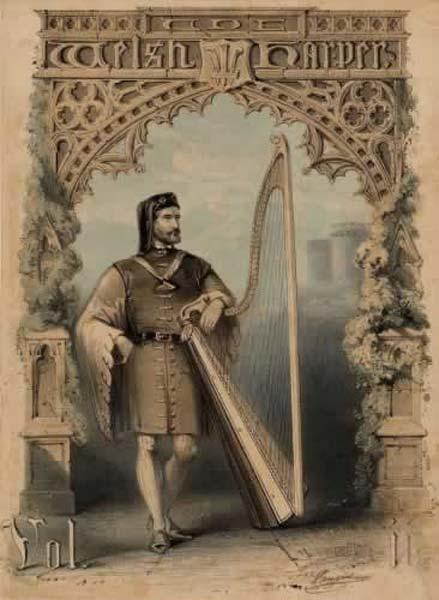 An imaginary portrait of medieval Welsh-language poet Dafydd ap Gwilym.