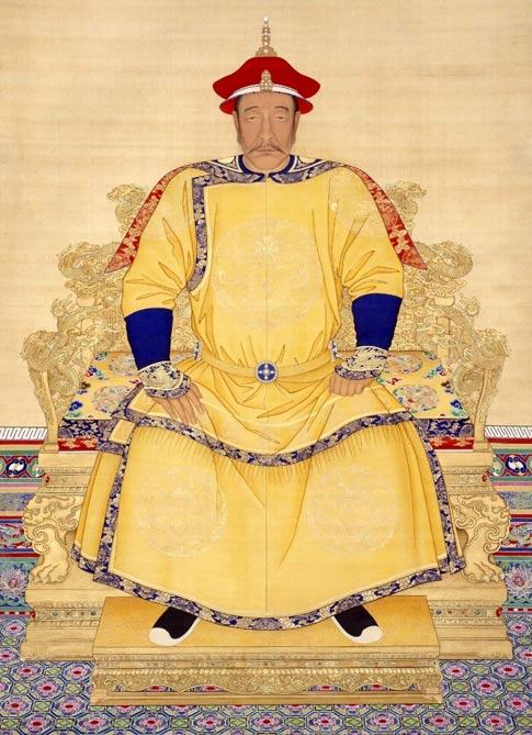 An imperial portrait of Nurhaci, grandson of Giocangga.