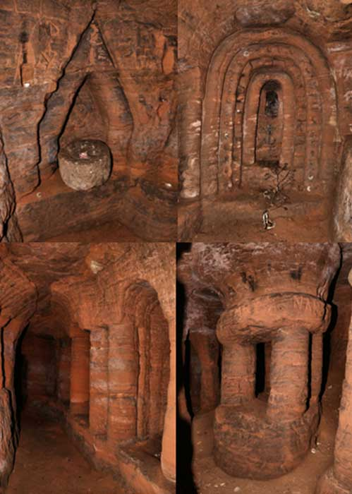 Photos inside the Caynton Caves.