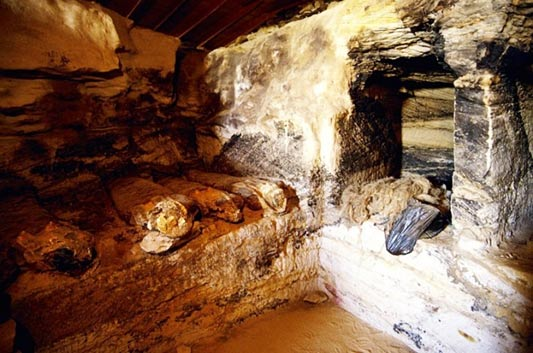 Inside tomb in Valley of the Golden Mummies