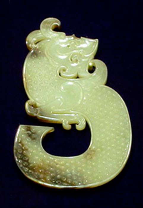 jade dragon from the Chinese Western Han Dynasty king of chu's tomb.