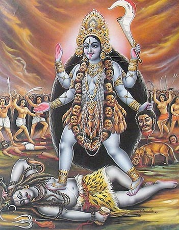 Kali, goddess of destruction and renewal