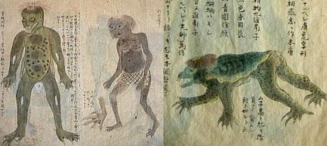 Kappa sketches - Mythological Creature