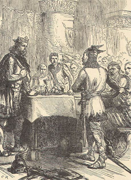 King Harold Godwinson, the last Anglo-Saxon king, receiving the news of the Norman invasion. (Public Domain)