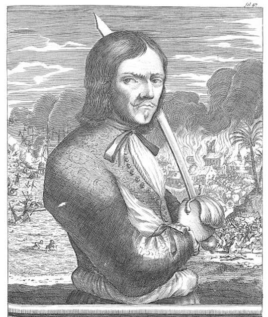"""François l'Olonnais from """"De Americaensche Zeerovers."""""""