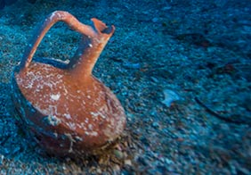 "Divers discovered an intact ""lagynos"" ceramic table jug"