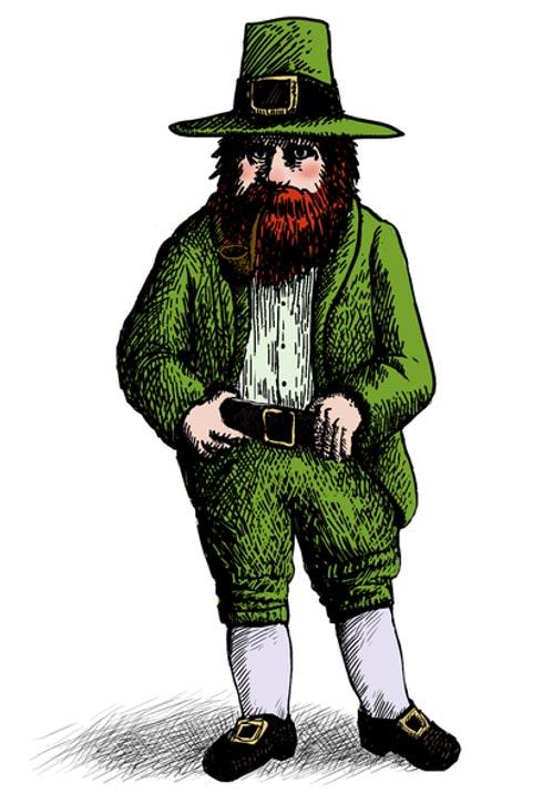 A modern stereotype of a leprechaun