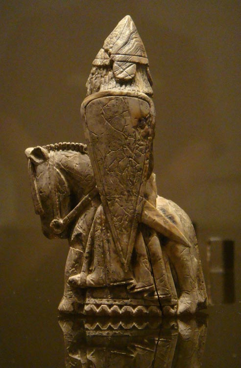 A knight from the Lewis chessmen set