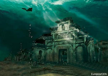Ancient Chinese underwater city - Lion City