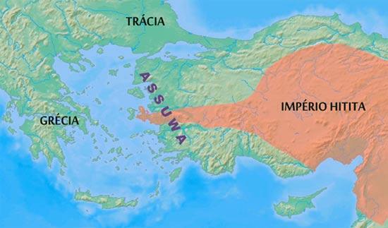 Map depicting Assuwa