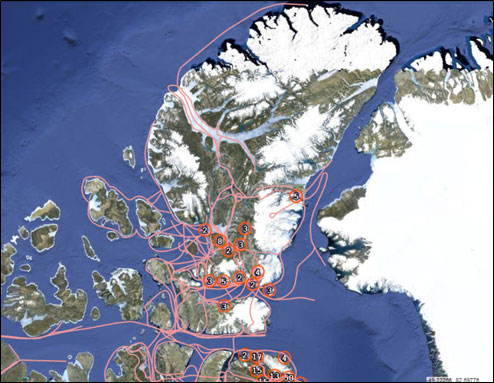 Map - Trails of Inuit