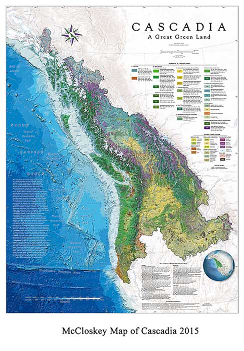 Map of Cascadia. (Image credit David McClosky.