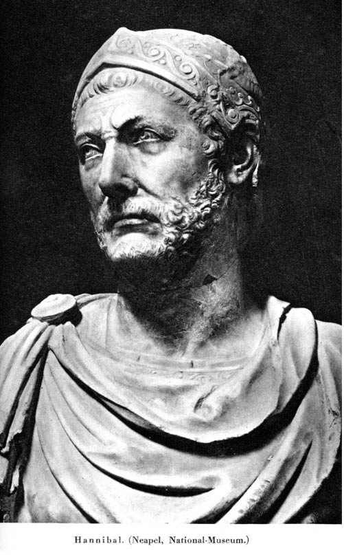 A marble bust, reputedly of Hannibal. Capua, Italy