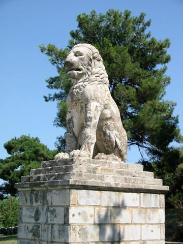 The marble statue of the Lion of Amphipolis