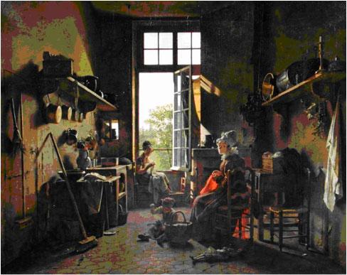 Martin Drölling, L'interieur d'une cuisine
