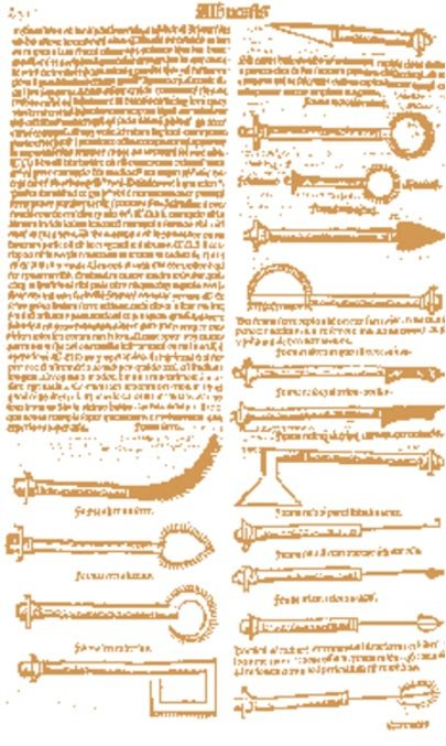 Page from a 1531 Latin translation by Peter Argellata of Al-Zahrawi's treatise on surgical and medical instruments.