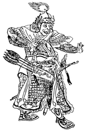 A medieval Chinese drawing of Subutai.