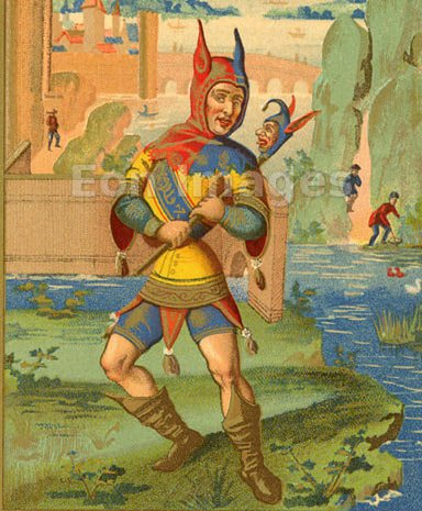 A medieval jester - April Fool's Day