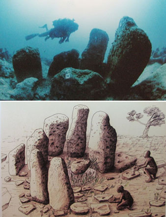 Artist's reconstruction of stone formation