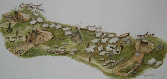 An example of a Mesolithic hunting camp
