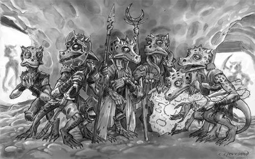 Artist's depiction of the mining kobolds