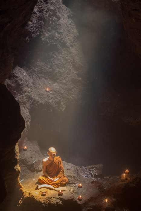 For millennia, monks and other spiritual seekers have used cave environments to find deep tranquility and eternal wisdom. (Sutipond Stock / Adobe Stock)