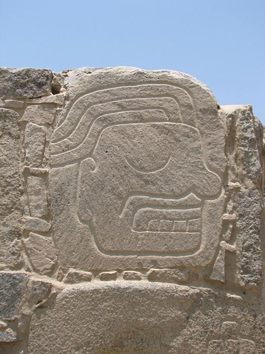 A relief carving from the Casma/Sechin culture.