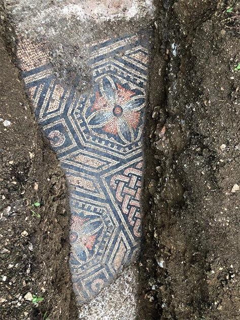The mosaic was found in pristine condition. (Image: Comune di Negrar di Valpolicella)