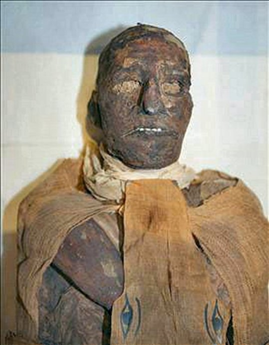 The mummy of pharaoh Ramesses III.