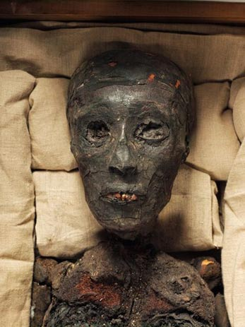The mummy of Tutankhamun