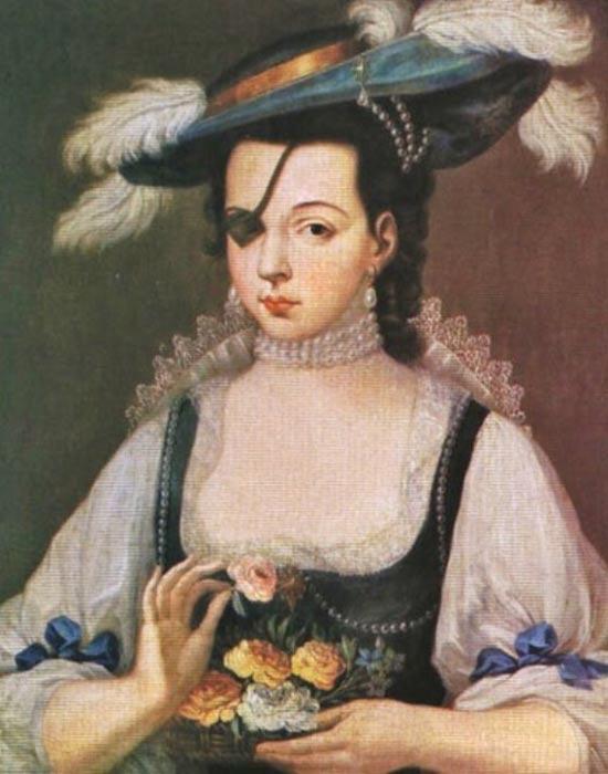 A portrait of Ana de la Mendoza.