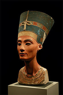 The iconic bust of Nefertiti