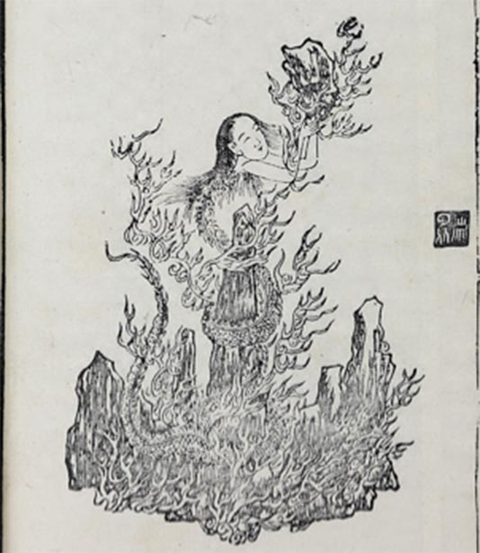 Nuwa repairing the pillar of heaven. (Rephinx / Public Domain)