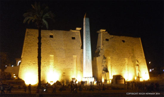 Obelisk by Night at Luxor Temple