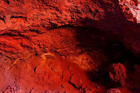 The blood red ochre at Wilgie Mia - Australia