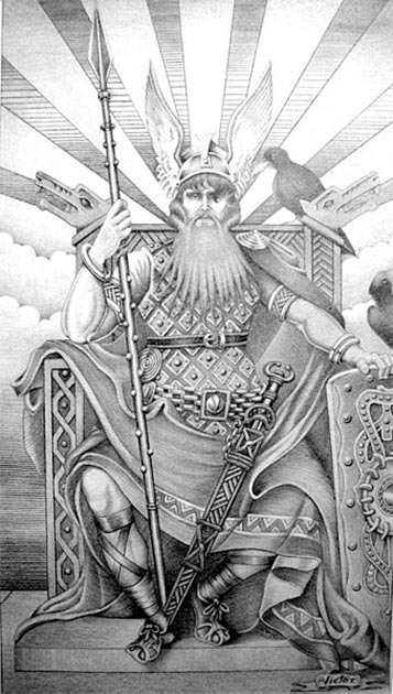 Odin was the Viking sun god. (Victor villalobos/CC BY SA 4.0)