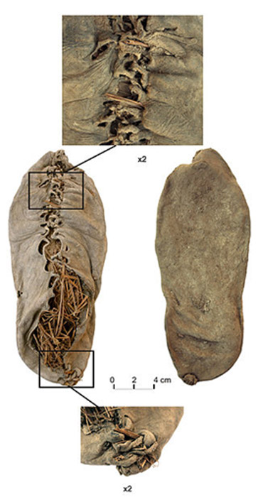 The oldest known leather shoe, recovered at the base of a Chalcolithic pit in the cave of Areni-1, Vayots Dzor, Armenia.