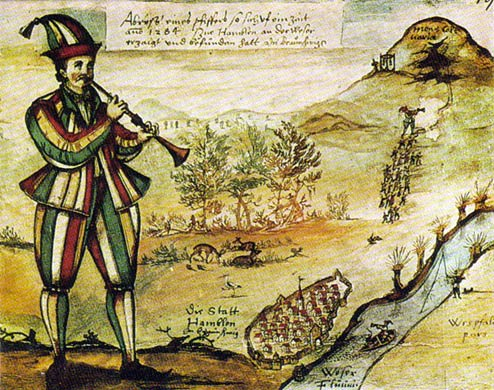 The oldest known picture of the Pied Piper