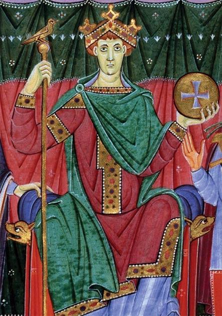 Оттон III, імператор Священної Римської імперії.  (Meister der Reichenauer Schule / Суспільне надбання)