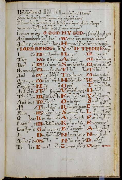 A page from the Calligraphic Commonplace Book. Credit: Newberry Library