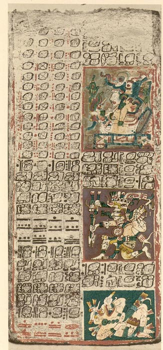 A page from the Dresden Codex