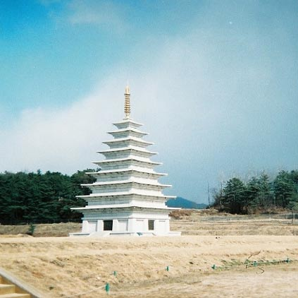 The east pagoda of temple Miruksa