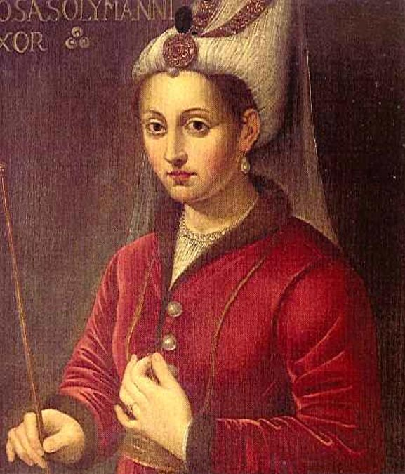 16th-century oil painting of Hürrem Sultan