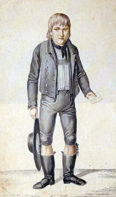 Contemporary painting of Kaspar Hauser.
