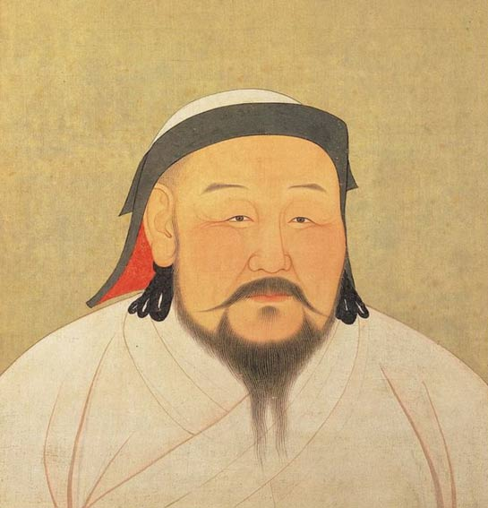A painting of Shizu, better known as Kublai Khan.