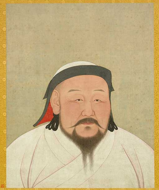 A painting of Shizu, better known as Kublai Khan