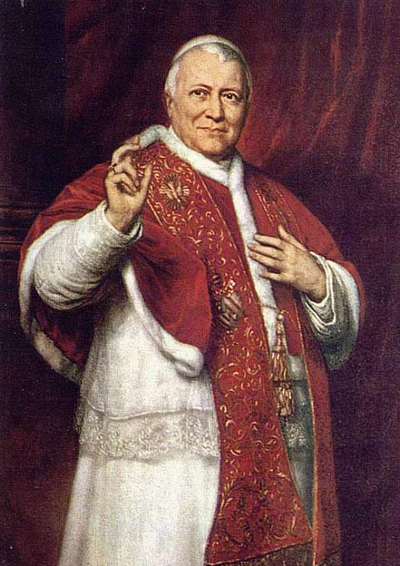 A painting of the Pope Pius IX