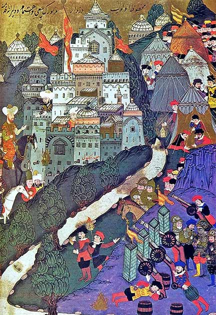 A painting from 1523 of The Battle of Nicopolis which occurred in 1396. (Topkapı Palace / Public domain)