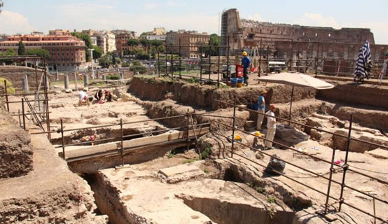 The dig on the Palatine